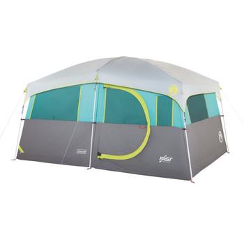 Coleman Tenaya Lake Lighted 8 Person Cabin Tent - Teal/Gray, UPC : 076501140101