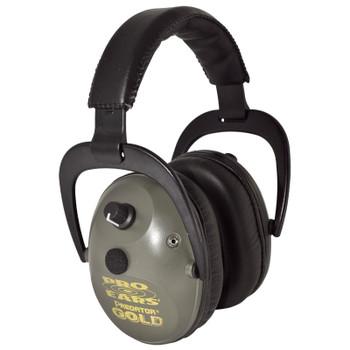 Pro Ears Predator Gold Series Ear Muffs Green GS-P300-G, UPC :751710109421