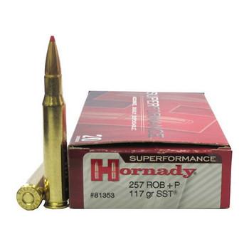Hornady Superformance SST Ammunition 257 Roberts +P 117 Grain SST Box of 20, UPC : 090255813531