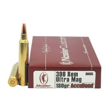 Nosler Trophy Grade Ammunition 300 Remington Ultra Magnum 180 Grain AccuBond Box of 20, UPC : 054041600651