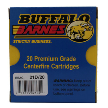 Buffalo Bore Ammunition 10mm Auto 155 Grain Barnes TAC-XP Hollow Point Lead-Free Box of 20, UPC :651815021041