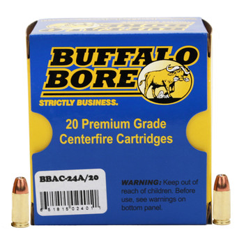 Buffalo Bore Ammunition 9mm Luger +P+ 115 Grain Jacketed Hollow Point Box of 20, UPC :651815024011
