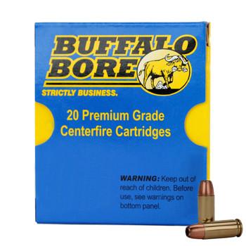 Buffalo Bore Ammunition Outdoorsman 38 Super +P 147 Grain Jacketed Hollow Point Box of 20, UPC :651815033051