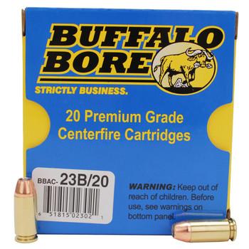 Buffalo Bore Ammunition 40 S&W +P 180 Grain Jacketed Hollow Point Box of 20, UPC :651815023021