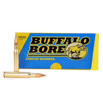 Buffalo Bore Ammunition Supercharged 30-06 Springfield 150 Grain Spitzer Flat Base Box of 20, UPC :651815040011