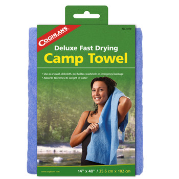"Deluxe Camp Towel - 40"" x 14"", UPC : 056389001701"