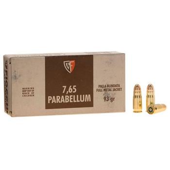 Fiocchi Ammunition 30 Luger 93 Grain Full Metal Jacket Box of 50, UPC :762344001531