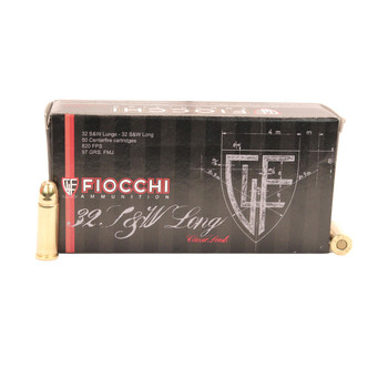 Fiocchi Shooting Dynamics Ammunition 32 S&W Long 97 Grain Full Metal Jacket Box of 50, UPC :762344000961