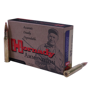 Hornady Vintage Match Ammunition 30-06 Springfield (M1 Garand) 168 Grain ELD Match Box of 20, UPC : 090255811711