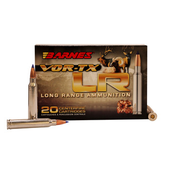 Barnes VOR-TX Long Range Ammunition 300 Remington Ultra Magnum 190 Grain LRX Polymer Tipped Boat Tail Lead-Free Box of 20, UPC :716876130191