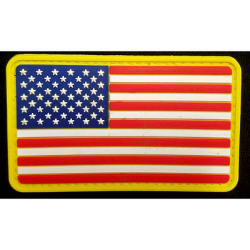 RUBBER MORALE PATCH FLAG - FULL COLOR, UPC :616086526411