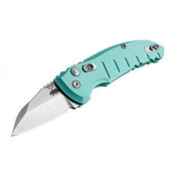 A01-Microswitch 1.95  Folder Wharncliffe Blade Tumble Finish Alum Frame - Aquamarine, UPC :743108241431