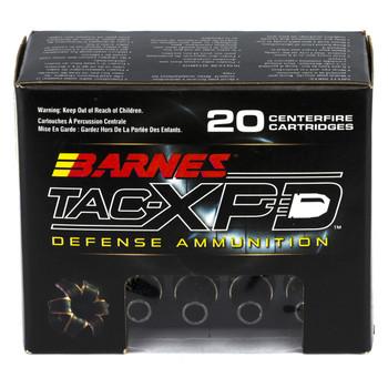 Barnes TAC-XPD, 9MM+P, 115 Grain, TAC-XP, Hollow Point, Lead Free, 20 Round Box BPD9MM1, UPC :716876135110