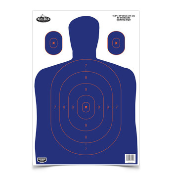 "Birchwood Casey Dirty Bird 16.5"" x 24"" BC-27 Blue/Orange Silhouette Target, 3 Targets 35753, UPC : 029057357530"