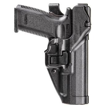 BLACKHAWK! Level 3 Duty SERPA Light Bearing Belt Holster (Xiphos Only), Fits Glock 17/19/22/23/31/32, Right Hand, Matte Finish, Black 44H500BK-R, UPC :648018048760