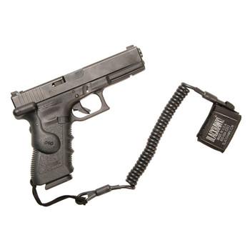 BLACKHAWK! Pistol Coil Lanyard with Swivel, Black 90TPL2BK, UPC :648018038440