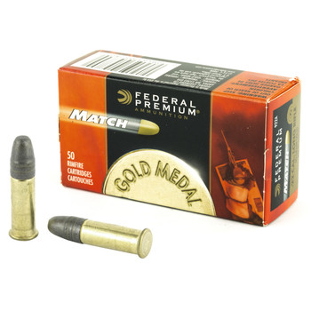 Federal Premium Match, 22LR, 40 Grain, Lead Round Nose, 50 Round Box 922A, UPC : 029465057800