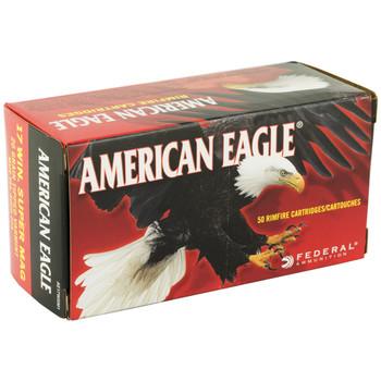 Federal American Eagle, 17WSM, 20 Grain, Poly Tip, 50 Round Box AE17WSM1, UPC : 029465058470
