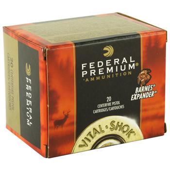 Federal Vital-Shok, 500 S&W, 275 Grain, Barnes Expander, Lead Free, 20 Round Box P500XB1, UPC : 029465098360