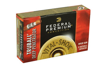 "Federal Premium, 12 Gauge, 2.75"", 1oz, TruBall, 5 Round Box PB127DPRS, UPC : 029465027360"