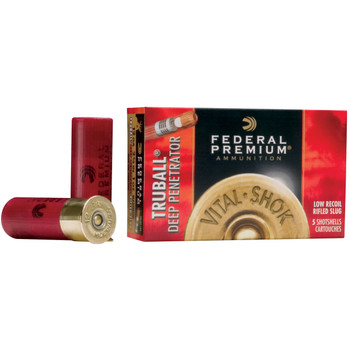 "Federal Premium, 12 Gauge, 2.75"", 1oz, TruBall, 5 Round Box PB127DPRS, UPC : 029465027360"
