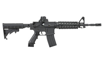 Advanced Technology AR-15 Non-Firing Mini Replica, 1/3 Scale, Functioning Features Include: Charge Handles Opens Dust Cover, Trigger, Firing Modes, Adjustable Stock, Adjustable Sights, Removable Mag with Three Brass Rounds, Removable Cleaning Rod, Ma