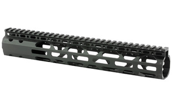 "Advanced Technology 12"" Slim Free Float Forend, Fits AR-15 Variants, M-LOK mounting on Three Sides, All Mounting Hardware Included, Black Finish SHG1200, UPC :758152143990"