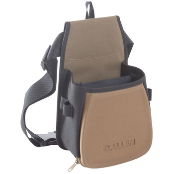 Allen Eliminator Basic Double Compartment Shooting Bag,  Black/Coffee/Copper, Belt Included, Lightweight 8303, UPC : 026509008910