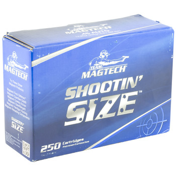 Magtech Shootin Size, 9MM, 115 Grain, Full Metal Jacket, 250 Round Box MP9A, UPC :754908189410