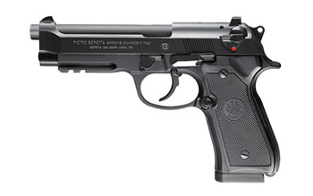 "Beretta 96A1, Double Action, Full Size, 40 S&W, 4.9"" Barrel, Alloy Frame, Blue Finish, Plastic Grips, 3 Dot Sights, 12Rd, 3 Magazines, Tac Rail J9A4F10, UPC : 082442111100"