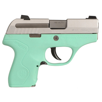 "Beretta PICO, Semi-automatic, Sub Compact, 380ACP, 2.7"", Polymer, Robin's Egg Blue, 6Rd, Has the Upgraded Sticker JMP8D75, UPC : 082442886930"
