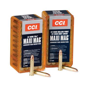 CCI/Speer Maxi-Mag, 22WMR, 30 Grain, Jacketed Hollow Point +V, 50 Round Box 59, UPC : 076683000590
