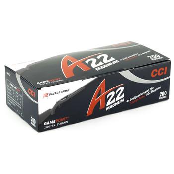 CCI/Speer A22, 22WMR, 35 Grain, Gamepoint, 200 Round Box 963CC, UPC :604544618860