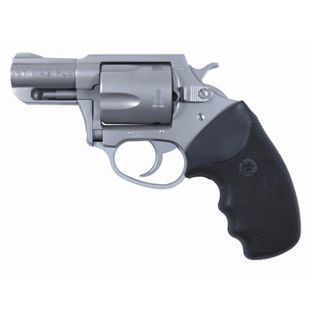 """Charter Arms Mag Pug, Revolver, 357 Mag, 4.2"""" Barrel, Steel Frame, Stainless Finish, Rubber Grips, 5Rd, Fired Case 73542, UPC :678958735420"""