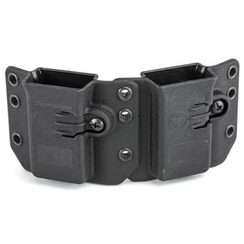 Raven Concealment Systems Copia Double Magazine Carrier, Short Profile, Ambidextrous, Black Finish, Fits Double Stack 9/40 Magazines DS94UDMCBKMD-150, UPC :842030110270