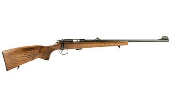 "CZ 455 Lux, Bolt Action, 22LR, 20.5"" Hammer Forged, Blued Finish, Wood Stock, 5Rd, Adjustable Sights 02101, UPC :806703021010"