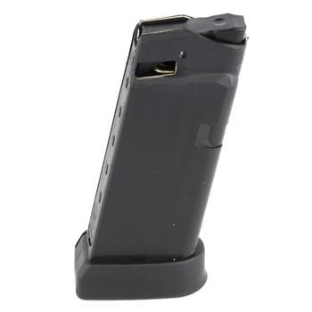 Glock OEM Magazine, 45ACP, 6Rd, Fits GLOCK 36, Cardboard Style Packaging, Black Finish 3606, UPC :764503360060