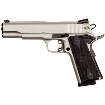 """Armscor Rock Island 1911, Full Size, 45ACP, 5"""" Barrel, Steel Frame, Matte Nickle Finish, Synthetic Grips,  8 Rounds 51448, UPC :4806015514480"""
