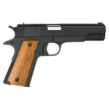 """Armscor Rock Island 1911, 38 Super, 5"""" Barrel, Steel Frame, Parkerized Finish, Wood Grips, Fixed Sights, 9Rd, 1 Magazine, Right Hand, Fired Case 51815, UPC :4806015518150"""