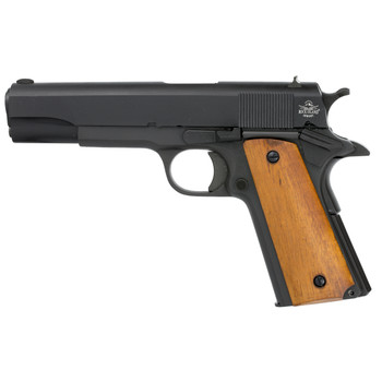 "Armscor Rock Island 1911, 38 Super, 5"" Barrel, Steel Frame, Parkerized Finish, Wood Grips, Fixed Sights, 9Rd, 1 Magazine, Right Hand, Fired Case 51815, UPC :4806015518150"