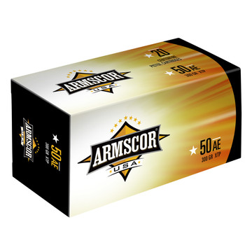 Armscor 50 Action Express, 300 Grain, XTP, 20 Round Box FAC50AE-1N, UPC :812285022000