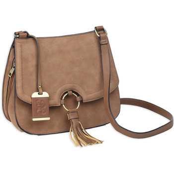 Bulldog Cases Cross Body Purse Holster, Fits Most Small Autos, Leather, Camel Brown BDP-034, UPC :672352011500