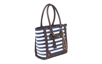 Bulldog Cases Tote Purse Holster, Fits Most Small Autos, Leather, Navy Blue & White Color BDP-050, UPC :672352010930