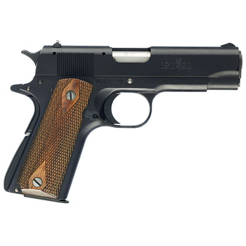 """Browning 1911-22A1, Semi-automatic, 22LR, 3.63"""" Barrel, Compact, Aluminum Slide And Frame, Black Finish, Wood Grips, 10Rd 051803490, UPC : 023614072010"""