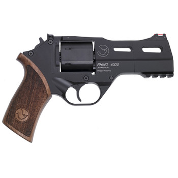 """Chiappa Firearms Rhino 40DS, Revolver, Double/Single Action, 357 Magnum/38 Special, 4"""" Barrel, Alloy Frame, Walnut Grips, 6Rd, Black Finish, 3 Moon Clips, Adjustable Rear Sight and Fiber Optic Front 340-219, UPC :8053670712140"""