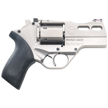 "Chiappa Firearms Rhino, 30DS, Revolver, Double Action/Single Action, 357 Magnum, 3"" Barrel, Alloy Frame, Chrome Finish, Rubber Grips, 6Rd, 3 Moon Clips, Adjustable Rear Sight and Fiber Optic Front Sight 340.290, UPC :8053800940030"