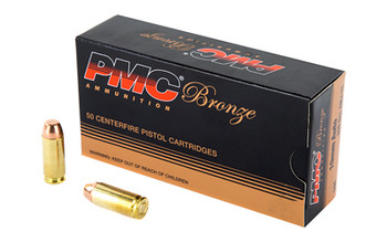 PMC Bronze Ammunition, 10MM, 200 Grain, Full Metal Jacket, 50 Round Box 10A, UPC :741569050760