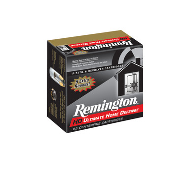 Remington Compact Ultimate Home Defense, 40S&W, 180 Grain, Brass Jacketed Hollow Point, 20 Round Box 28966, UPC : 047700428000