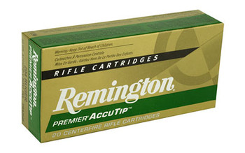 Remington Premier Accutip, 204 Ruger, 32 Grain, Accutip, 20 Round Box 29220, UPC : 047700383200