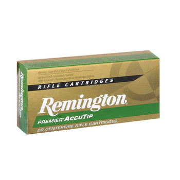 Remington Premier Accutip, 22-250, 50 Grain, Boat Tail, 20 Round Box 29186, UPC : 047700366500